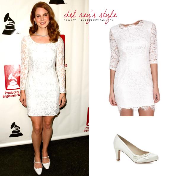 lana del rey white lace dress - photo #20