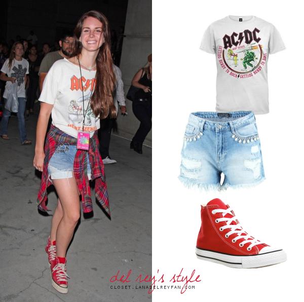 Dempsey subtítulo ira  2012: AC/DC Shirt and Denim Shorts | Inspirational Look | Lana Del Rey's  Closet